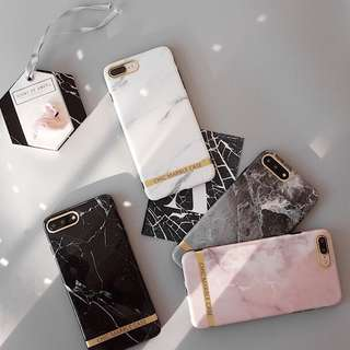 (Soft) Glossy Chic Marble iPhone Case