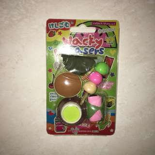 Wacky erasers