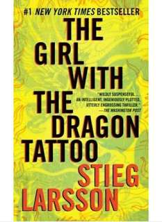 Stieg Larsson's The Girl With The Dragon Tattoo Book Novel