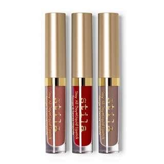 NEW Stila Warm & Fuzzy Set Stay All Day Matte Lipsticks
