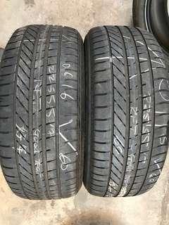 225/55/17 goodyear usedcrun flat tyre 60% tread 2pc only $40lc