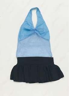 Blue Lingerie Top