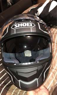 Shoei Matt helmet with build in visors