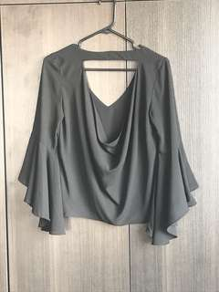 Zara top in black
