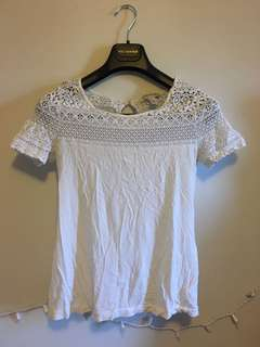 Lace white t shirt