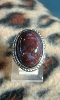 Red lumut agate from baturaja