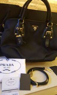 Authentic Prada 2 way bag complete inclusion