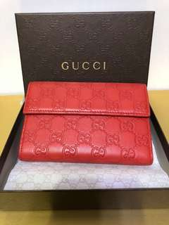 全新正版真皮Gucci 銀包