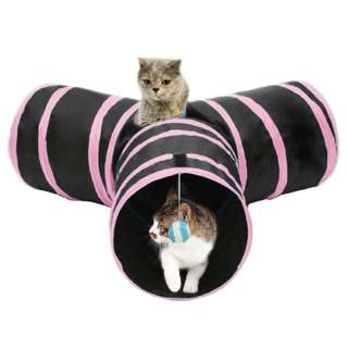 Foldable Cat Tunnel with Ball