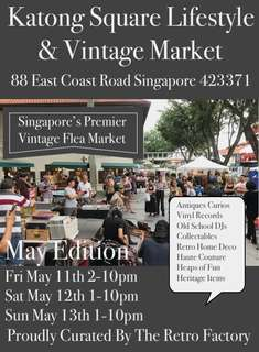 Katong Square Lifestyle & Vintage Market May 2018 Booth Bookings