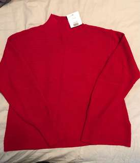 Topshop red knit