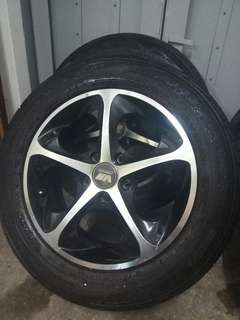 "Volkner Racing 16"" Rims with Tyres"