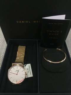 Daniel Wellington Watch & Bangle Set