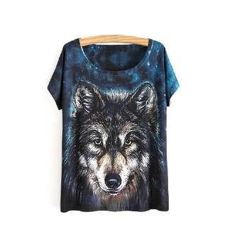 👕 Wolf Printed Tee 👕