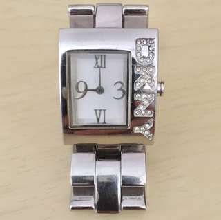DKNY,female,women,girls,lady,silver colour,stainless steel analog watch,square dail,shape,銀色,不銹鋼,方型,女裝,手