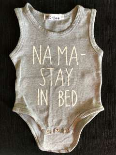 Na ma - stay in bed button singlet onesie