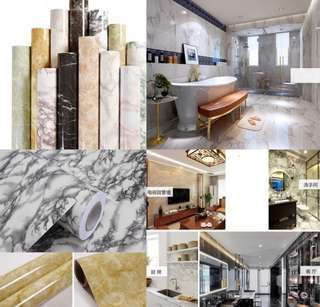 3M x 60cm Self Adhesive Marble Pattern Wallpaper waterproof furniture reno sticker decal