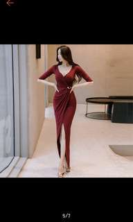 Dress maroon