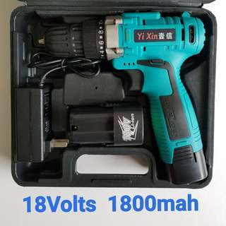 18Volts Double Speed Professional Cordless Driver Drill **** Powered By 1.8Ah Li-ion Battery