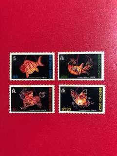 香港郵票-中國花燈郵票一套