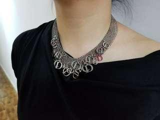 Christian Dior metal necklace