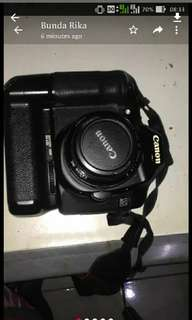 Canon 40d 18-55 plus bg ori lengkap dus book NORMAL cling