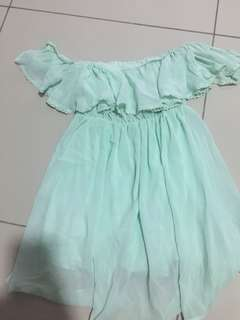 Mint green Off Shoulder Dress #20under