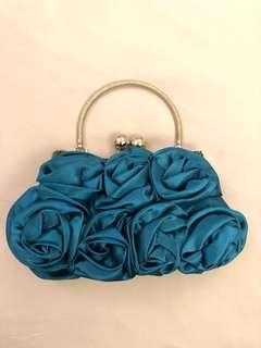 Unused pretty blue clutch