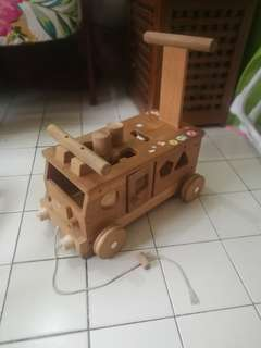Wooden bus - educational toys