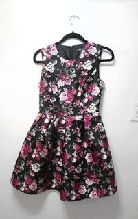 Suzy shier dress, small, floral, fit and flare