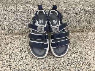 New Balance 涼鞋 三線涼鞋 魔鬼氈 拖鞋 深藍色 24號