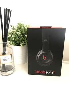(RRP$259)Beats by Dr Dre Solo 2 on Ear Headphones Black