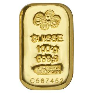Gold bar 100gr Credit Suisse