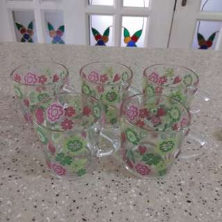 5 Decorated Glasses