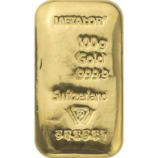 Gold bar 100gr Metalor