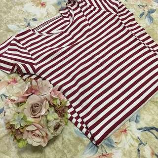 Sexy Red Striped Dress