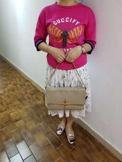 Celine leather clutch handbag