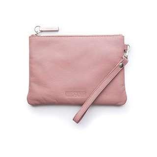 Stitch & Hide Blush bag with wristlet genuine leather