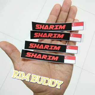 Name + Flag Stickers Matte and Waterproof by Rim Buddy