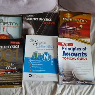 O Level textbooks