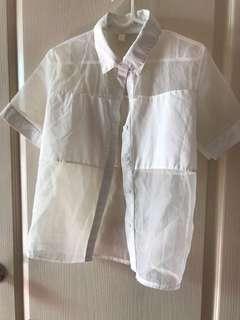 🚚 半透紗設計襯衫