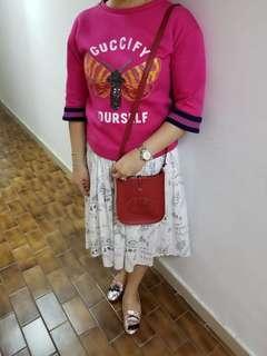 Hermes red mini Evelyne small crossbody bag