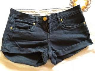 Preloved Navy Blue Soft Denim Shorts