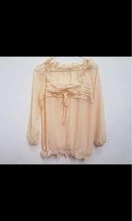 Baby cream sifon blouse