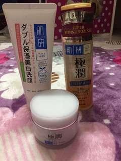 Hada Labo - cleanser, toner, moisturiser