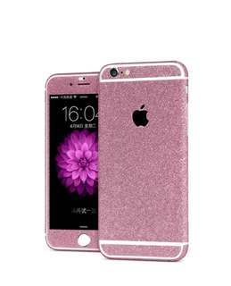 360 Full Body Glitter Sticker Case for iphone 6/6s