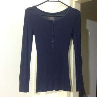 Women Top - Long Sleeves Dark Blue