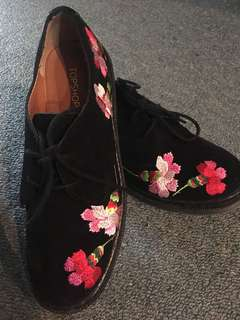 Topshop embroidered shoes
