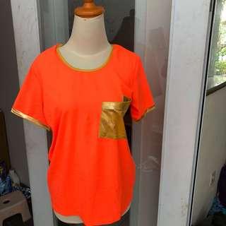 Atasan blouse orange coco kelen