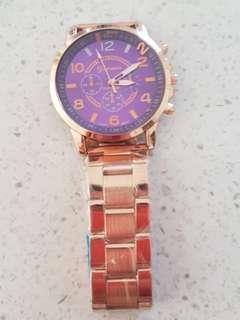 *New* Geneva Rose Gold Watch